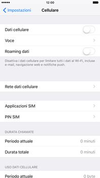 Apple iPhone 6s Plus - Internet e roaming dati - come verificare se la connessione dati è abilitata - Fase 4