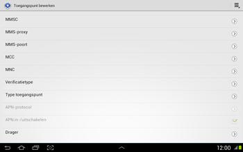 Samsung N8020 Galaxy Note 10-1 LTE - Internet - Handmatig instellen - Stap 12