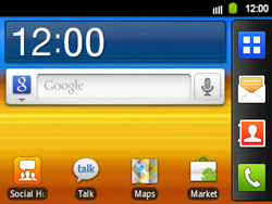 Samsung B5510 Galaxy TXT - wifi - handmatig instellen - stap 1