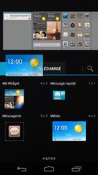 Huawei Ascend P6 - Prise en main - Installation de widgets et d