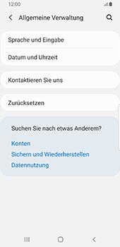 Samsung Galaxy S9 - Fehlerbehebung - Handy zurücksetzen - 7 / 12