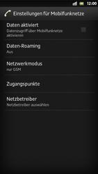 Sony Xperia S - Netzwerk - Manuelle Netzwerkwahl - Schritt 11