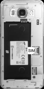 Samsung J510 Galaxy J5 (2016) - SIM-Karte - Einlegen - Schritt 3