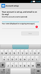 Alcatel One Touch Idol S - E-mail - manual configuration - Step 23
