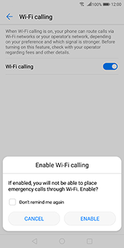 Huawei Mate 10 Pro - WiFi - Enable WiFi Calling - Step 8