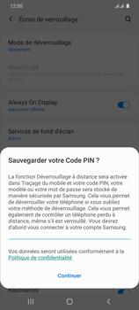 Samsung Galaxy S20 Ultra - Sécuriser votre mobile - Activer le code de verrouillage - Étape 12