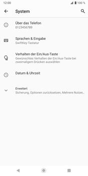 Sony Xperia XZ3 - Fehlerbehebung - Handy zurücksetzen - Schritt 7