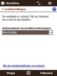HTC T3333 Touch II - e-mail - handmatig instellen - stap 13