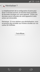 Sony Xperia Z3 - Téléphone mobile - Réinitialisation de la configuration d