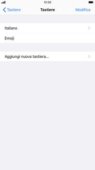 Apple iPhone 7 Plus - iOS 13 - Operazioni iniziali - Come aggiungere una lingua alla tastiera - Fase 6