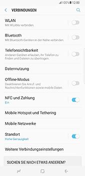 Samsung Galaxy S8 Plus - Netzwerk - Netzwerkeinstellungen ändern - Schritt 5