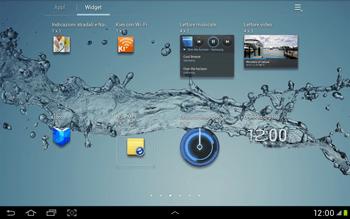 Samsung Galaxy Tab 2 10.1 - Operazioni iniziali - Installazione di widget e applicazioni nella schermata iniziale - Fase 6