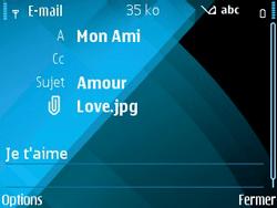 Nokia E71 - E-mail - envoyer un e-mail - Étape 12