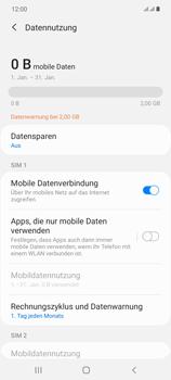 Samsung Galaxy Note 20 5G - Internet und Datenroaming - Prüfen, ob Datenkonnektivität aktiviert ist - Schritt 7