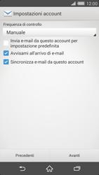 Sony Xperia Z2 - E-mail - configurazione manuale - Fase 16
