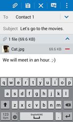 Samsung J100H Galaxy J1 - E-mail - Sending emails - Step 17