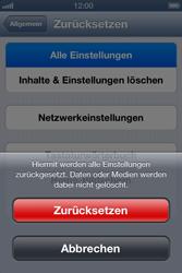 Apple iPhone 4 - Fehlerbehebung - Handy zurücksetzen - 8 / 10