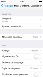Apple iPhone 5c iOS 8 - E-mail - configuration manuelle - Étape 19