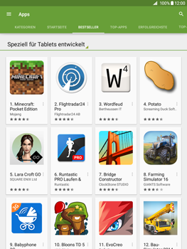 Samsung Galaxy Tab A 9.7 - Apps - Herunterladen - 7 / 20