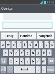 LG E430 Optimus L3 II - E-mail - Handmatig instellen - Stap 7