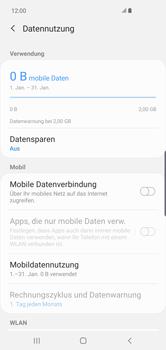 Samsung Galaxy S10 Plus - Internet und Datenroaming - Prüfen, ob Datenkonnektivität aktiviert ist - Schritt 6