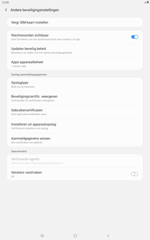 Samsung galaxy-tab-a-10-5-sm-t595-android-pie - Beveiliging en ouderlijk toezicht - Hoe wijzig ik mijn SIM PIN-code - Stap 6