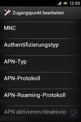 Sony Xperia Miro - MMS - Manuelle Konfiguration - Schritt 14