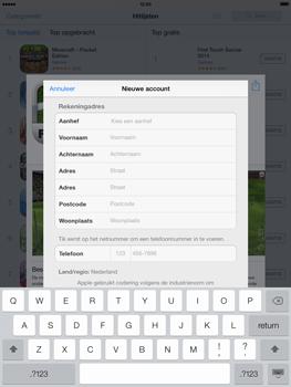 Apple iPad 4th generation (Retina) met iOS 7 - Applicaties - Account aanmaken - Stap 20