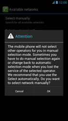 Alcatel One Touch Idol - Network - Manual network selection - Step 10