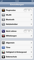 Apple iPhone 5 - WLAN - Manuelle Konfiguration - Schritt 3