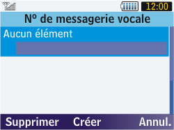 Samsung S3570 Chat 357 - Messagerie vocale - Configuration manuelle - Étape 6