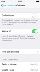 Apple iPhone 5c - Internet e roaming dati - come verificare se la connessione dati è abilitata - Fase 4