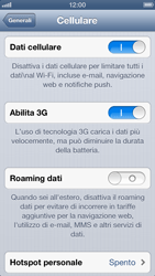 Apple iPhone 5 - Internet e roaming dati - Disattivazione del roaming dati - Fase 6
