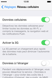 Apple iPhone 4 S iOS 7 - Internet - désactivation du roaming de données - Étape 5