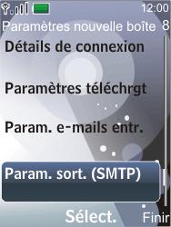 Nokia 7210 supernova - E-mail - configuration manuelle - Étape 19
