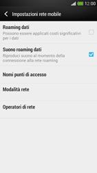 HTC One Mini - Internet e roaming dati - Disattivazione del roaming dati - Fase 6