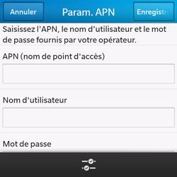 BlackBerry Q10 - Internet et roaming de données - Configuration manuelle - Étape 8