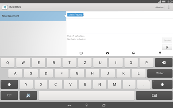 Sony Xperia Tablet Z2 LTE - MMS - Erstellen und senden - 14 / 22