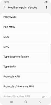 Samsung Galaxy S9 Android Pie - MMS - Configuration manuelle - Étape 10