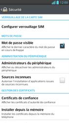 LG Optimus F5 - Sécuriser votre mobile - Personnaliser le code PIN de votre carte SIM - Étape 5