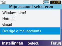 Samsung S3570 Chat 357 - E-mail - handmatig instellen - Stap 5