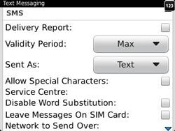 BlackBerry 9320 Curve - SMS - Manual configuration - Step 5