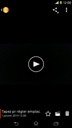 Sony Xpéria M2 - Photos, vidéos, musique - Créer une vidéo - Étape 12