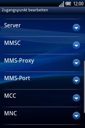 Sony Ericsson Xperia X8 - MMS - Manuelle Konfiguration - 11 / 17