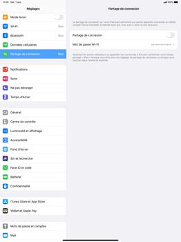 Apple iPad Pro 12.9 (1st gen) - ipados 13 - WiFi - Comment activer un point d'accès WiFi - Étape 4
