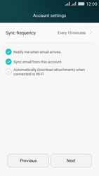 Huawei Y635 Dual SIM - Email - Manual configuration IMAP without SMTP verification - Step 17