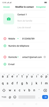 Oppo Reno 2Z - Contact, Appels, SMS/MMS - Ajouter un contact - Étape 11