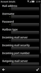 Nokia 700 - Email - Manual configuration - Step 8