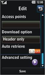 LG GD510 Pop - E-mail - Manual configuration - Step 15