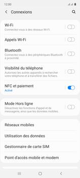 Samsung Galaxy Note 10 Lite - Internet et connexion - Désactiver la connexion Internet - Étape 5